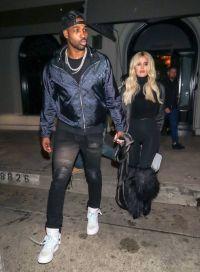 Khloe Kardashian Wearing All Black With Tristan Thompson
