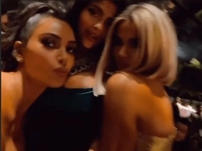 Khloe Kardashian With Kim and Kylie on Christmas Eve