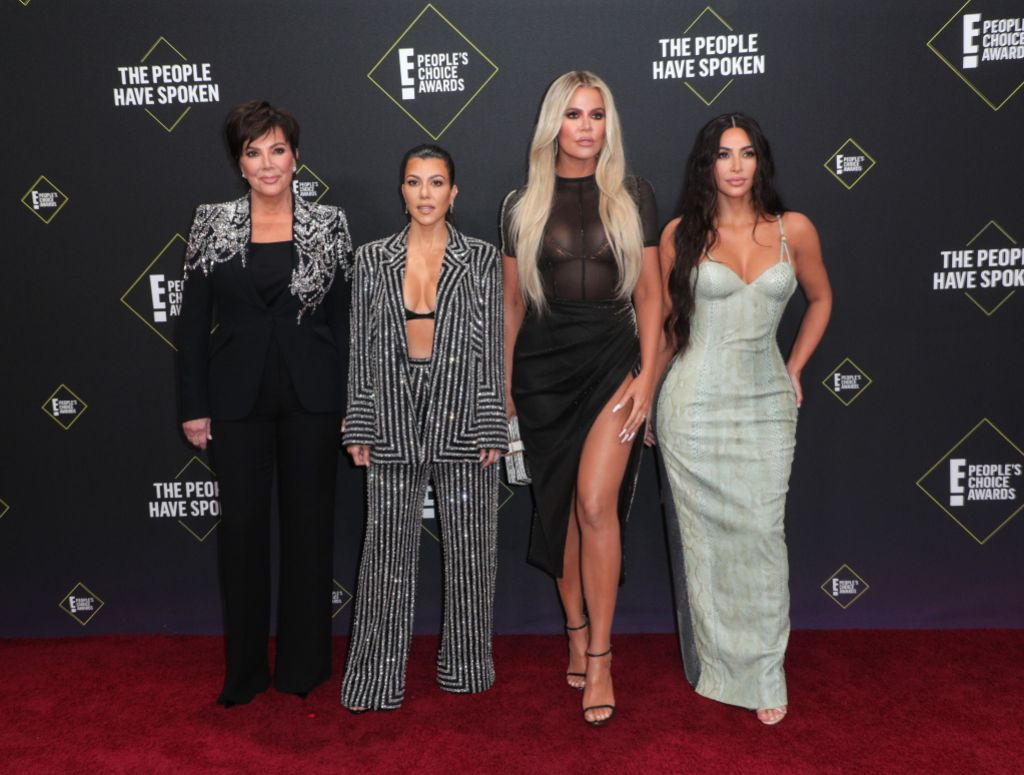 Kris, Kim, Khloe and Kourtney at the People's Choice Awards