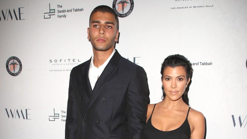 Kourtney Kardashian Wearing All Black With Younes Benjima