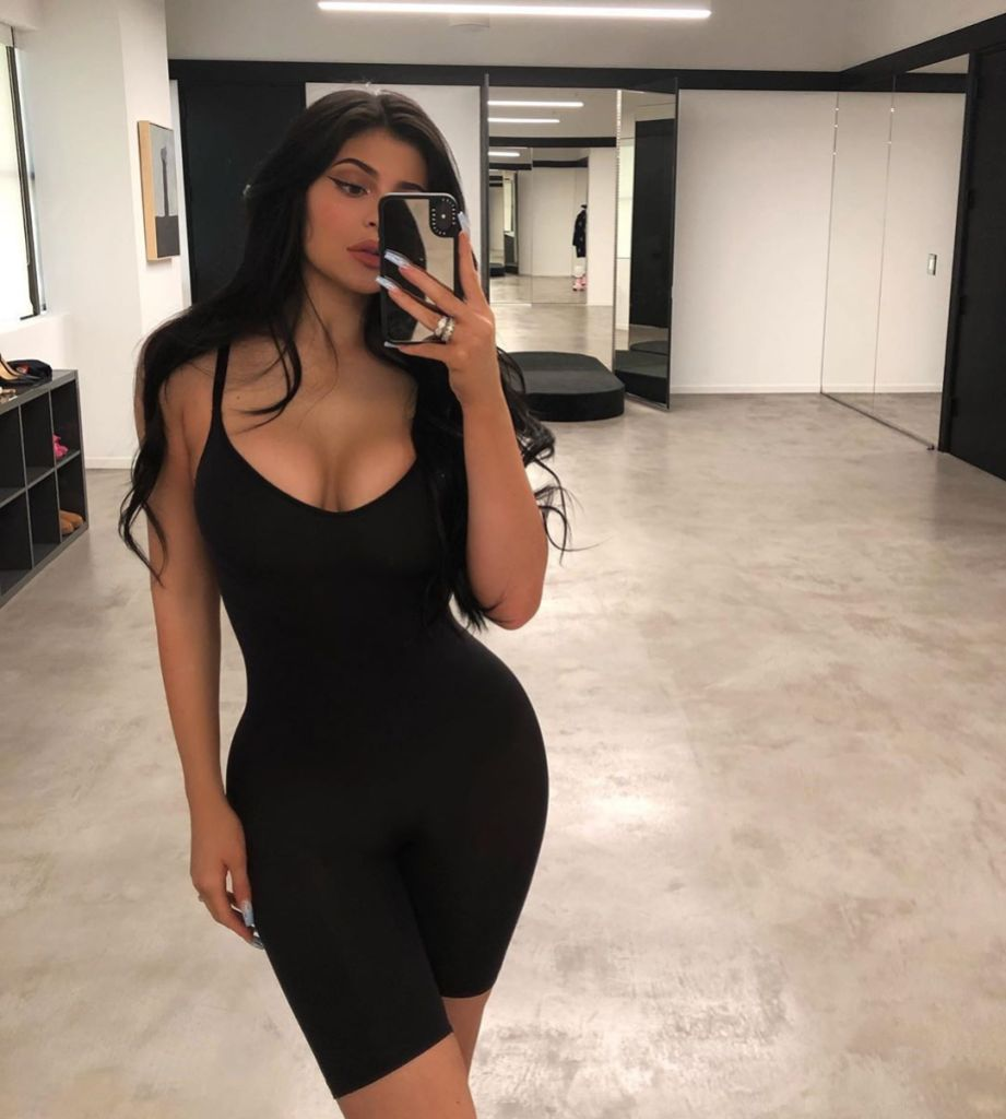 Kylie Jenner Wearing a Black Top