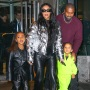 Kim Kardashian and Kanye West in New York City