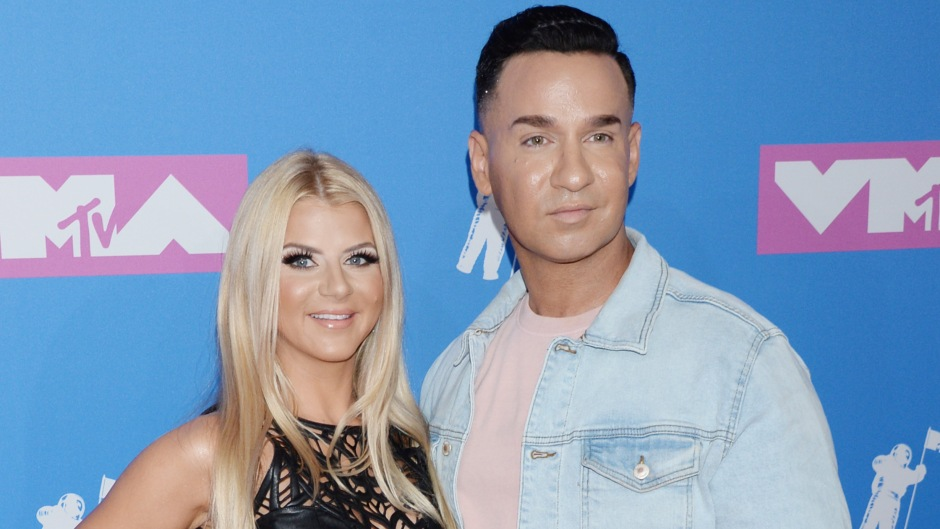 Mike Sorrentino With Lauren Sorrentino at the MTV Awards