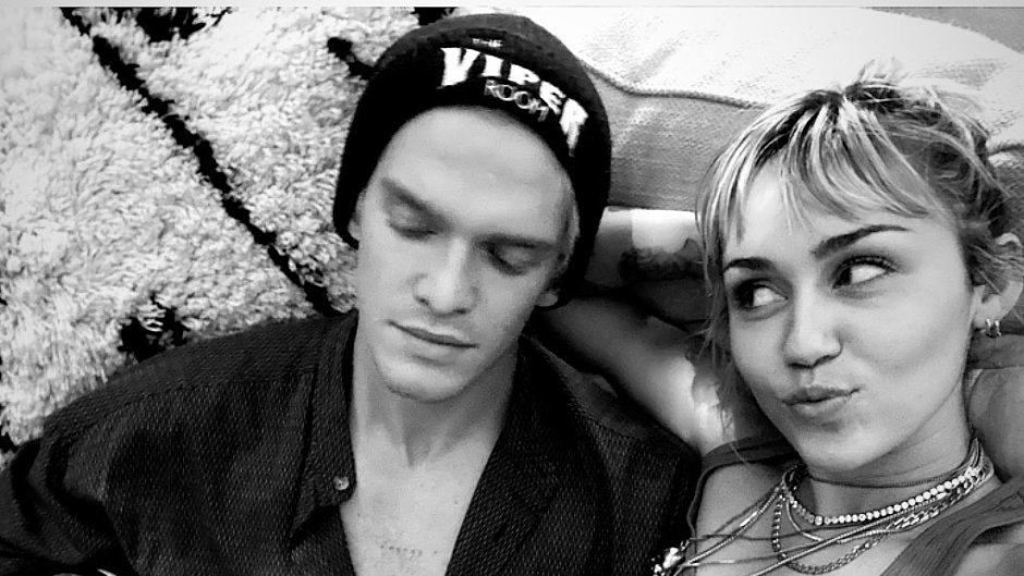 Miley Cyrus With Cody Simpson on the Couch
