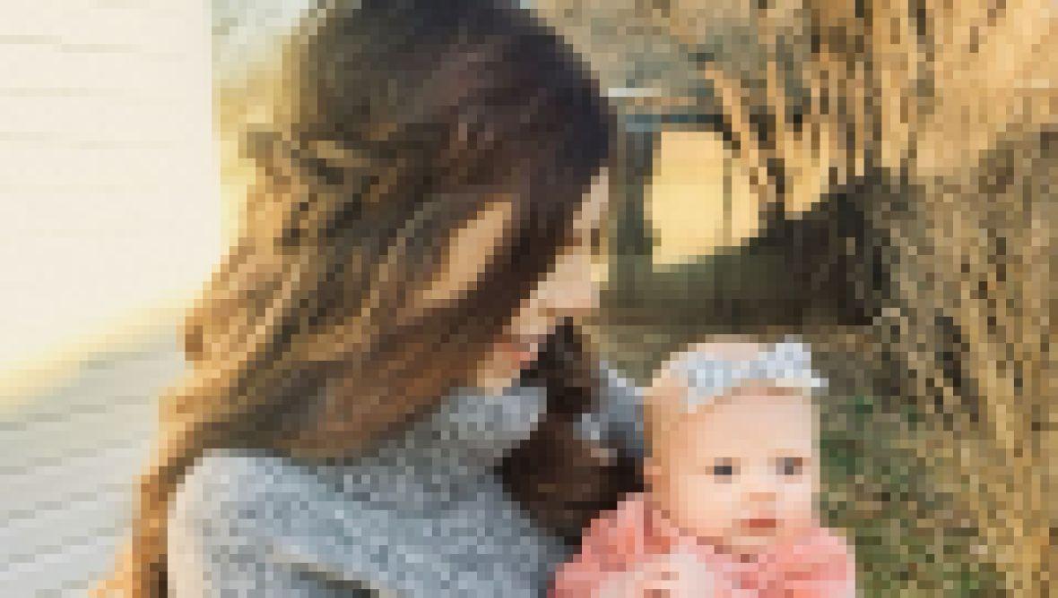 Lauren Swanson Holds Daughter Bella Duggar