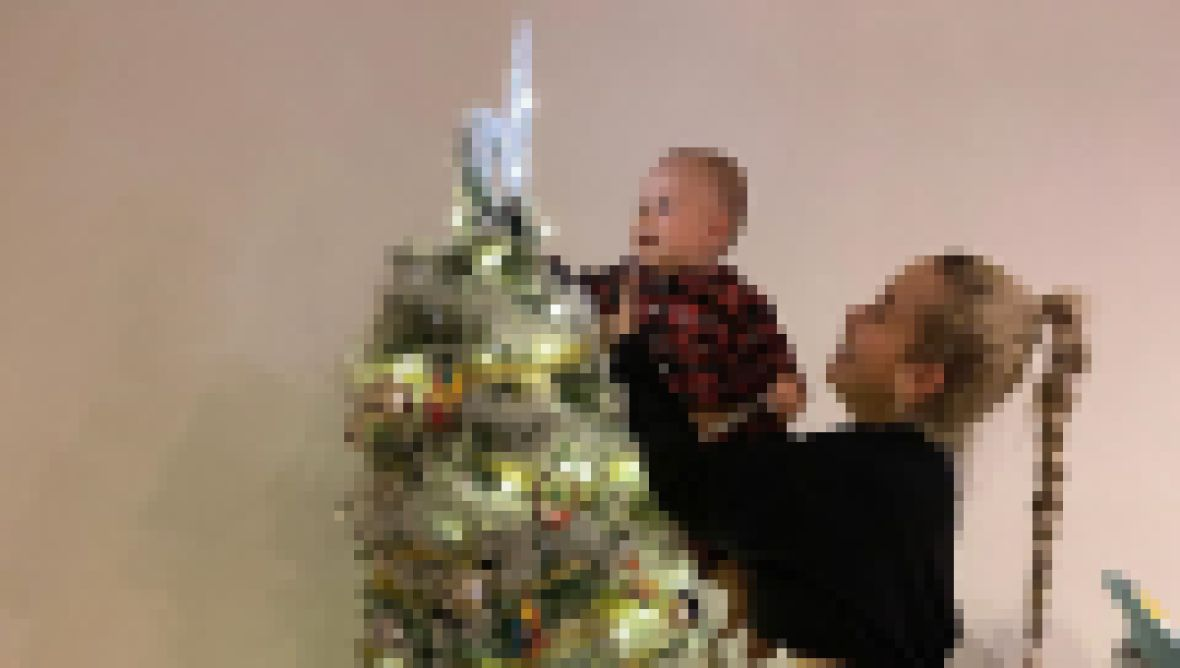 Paola Mayfield's Son Dresses the Tree