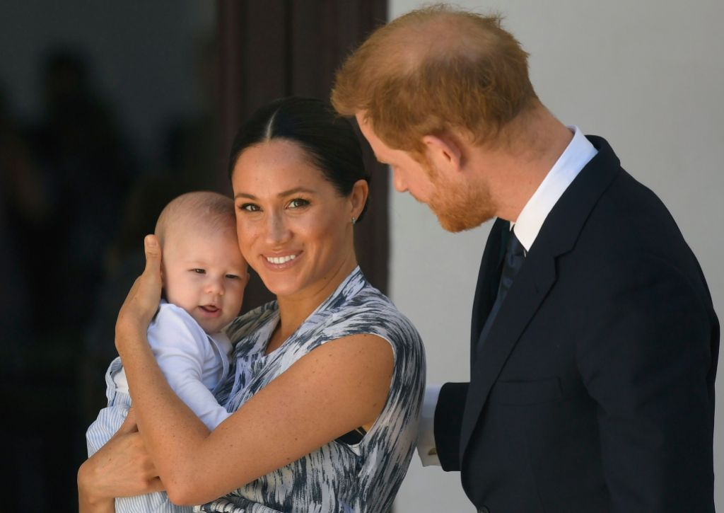 Prince Harry With Meghan Markle and Son Archie