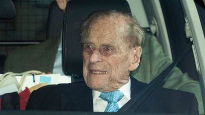 Prince Philip Leaving the Hospital in London