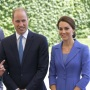 Prince William with Kate - meeting of the German Chancellor