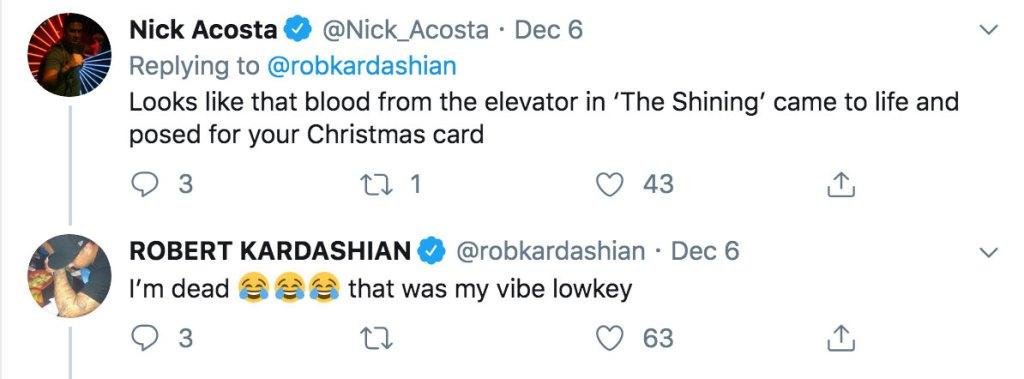Nick Acosta Response to Robert Kardashian Tweet, and Rob's Response Back to Nick