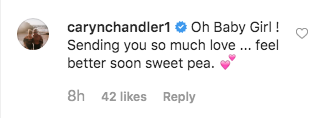 caryn chandler comments on post about ember having rsv