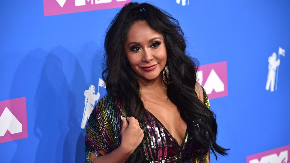 Snooki Wearing a Sequined Dress