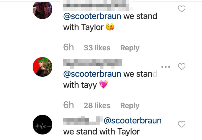 Taylor Swift Fans Slam Scooter Braun for Praising Ariana Grandes Live Tour Album Drop Instagram Comments