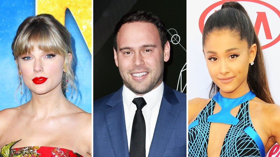 Taylor Swift Fans Slam Scooter Braun for Praising Ariana Grandes Live Tour Album Drop