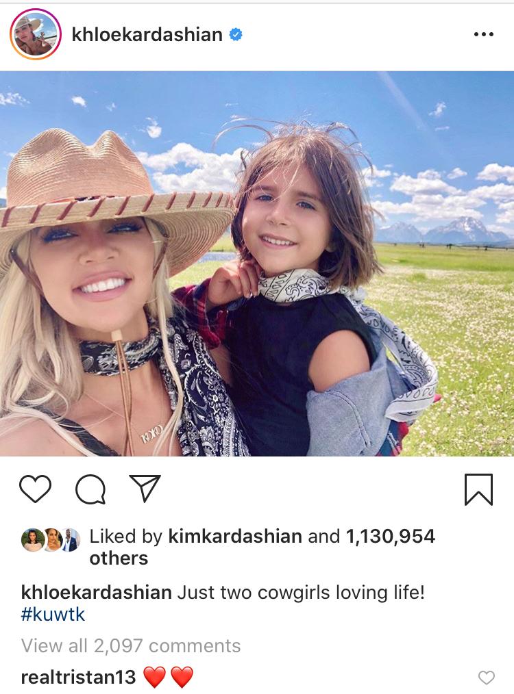 Khloe Kardashian With Niece Penelope in Wyoming