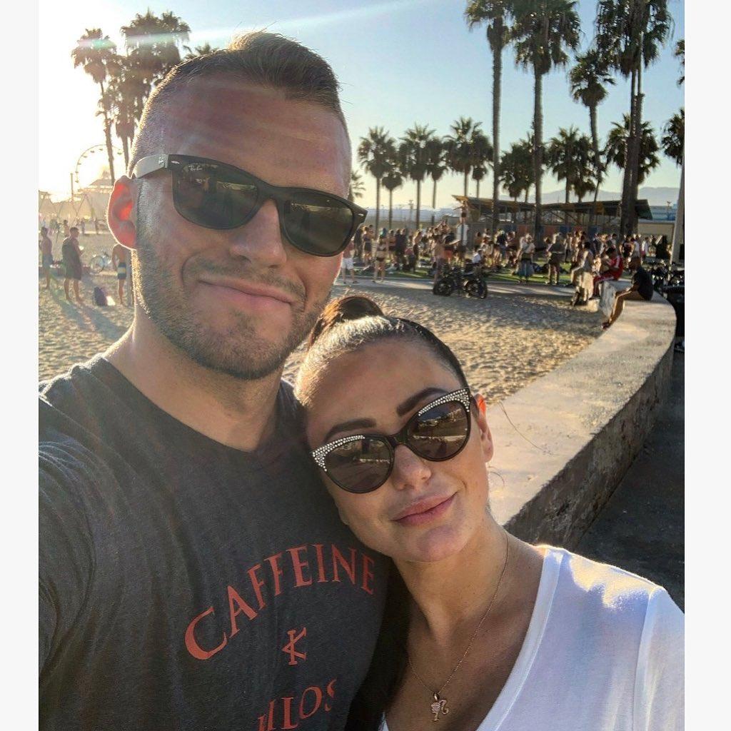 Zack Clayton Carpinello Wearing Sunglasses in LA with JWoww