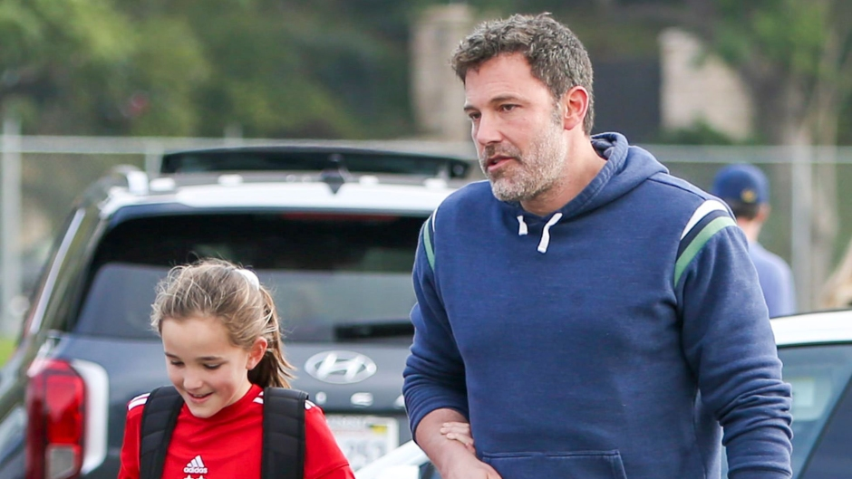 ben affleck spends time with his youngest daughter, seraphina affleck, while out and about