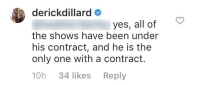 derick dillard says jim bob is the only duggar under tlc contract