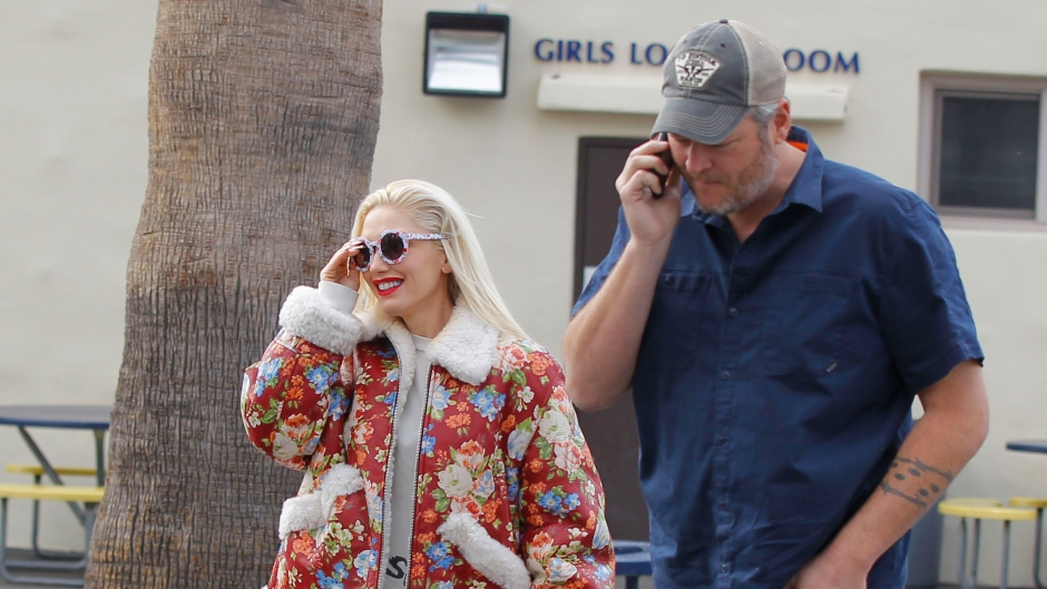 gwen stefani and blake shelton spent a day with her son kingston