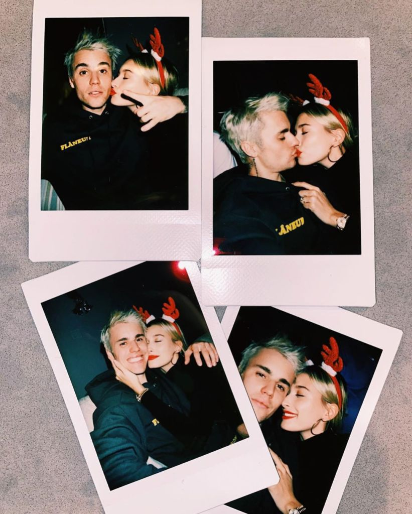 Hailey Baldwin and Justin Bieber PDA packed Christmas photos