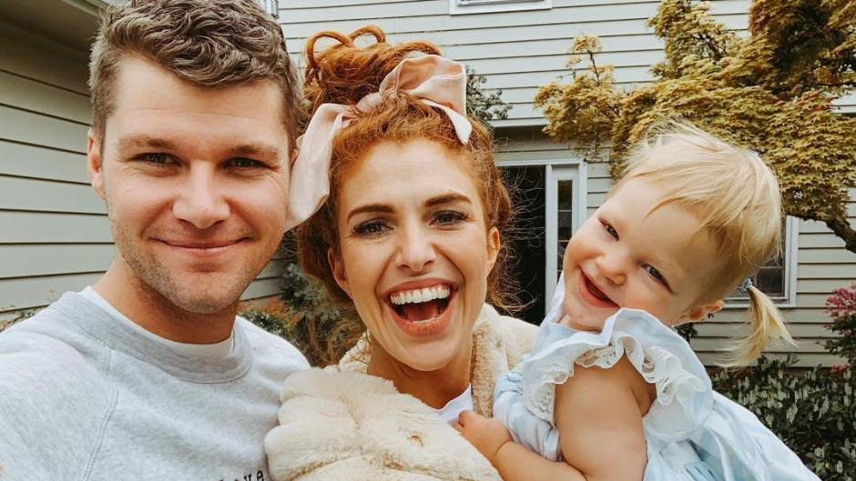 jeremy and audrey roloff selfie holding ember
