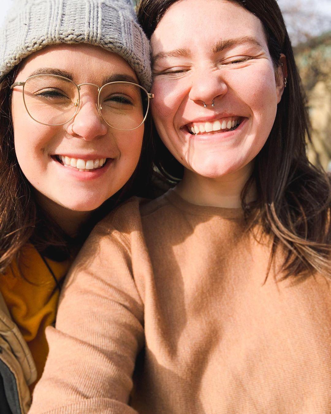 mariah brown and audrey kriss smiling