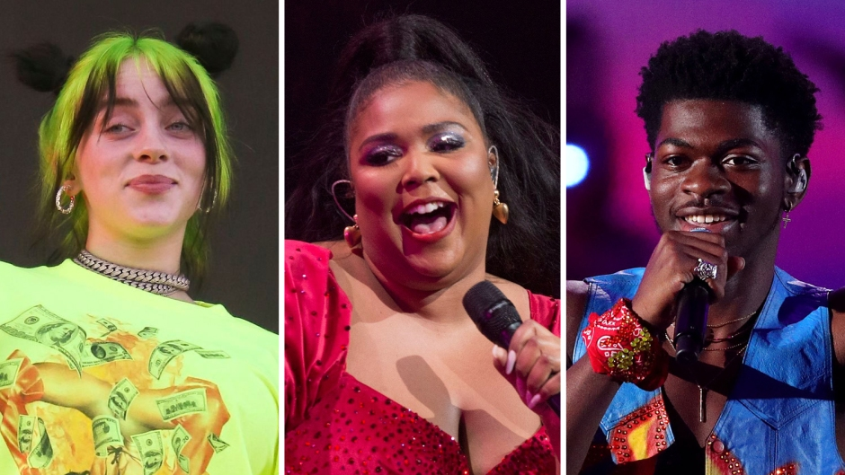 Side-by-Side Photos of Billie Eilish, Lizzo and Lil Nas X