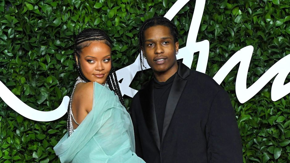 Rihanna and ASAP Rocky on Red Carpet