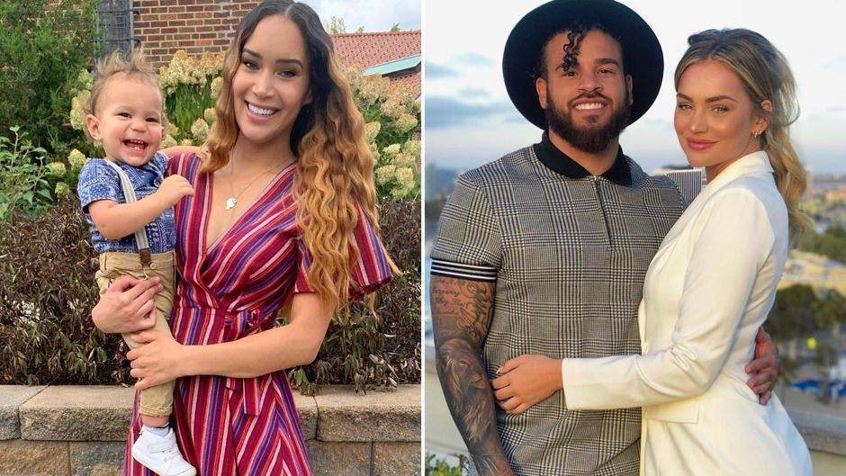 Side-by-Side Photos of Gianna Hammer With Son August and Taylor Selfridge With Cory Wharton