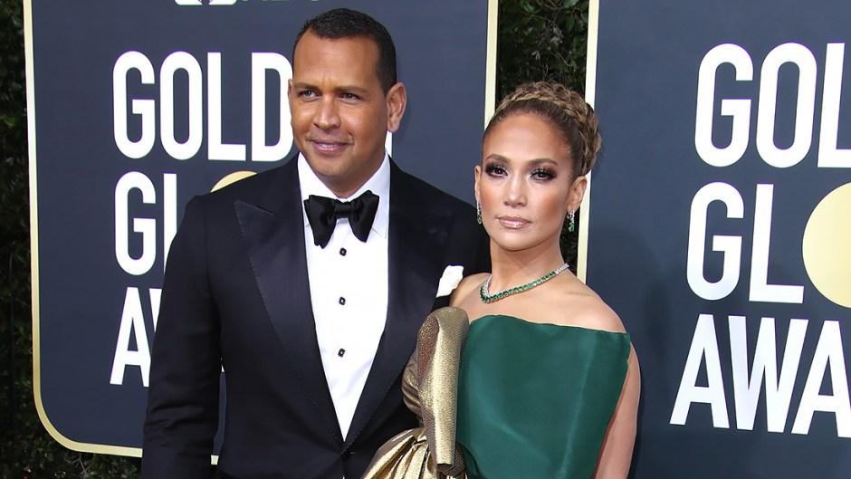 Alex Rodriguez and Jennifer Lopez GOlden Globes 2020