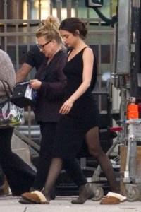 Ama de Arams Wearing all Black on Set