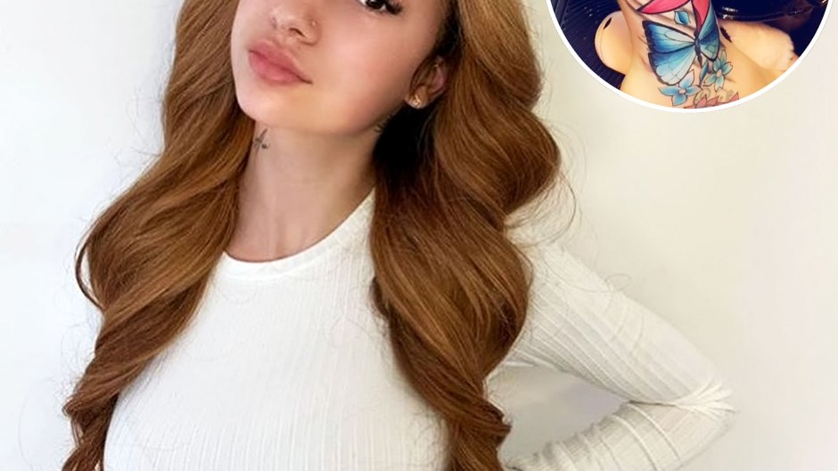 Bhad Bhabie Shows Off Her Vibrant New Butterfly Tattoo