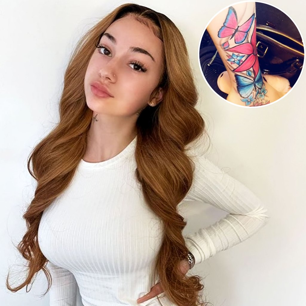 Bhad Bhabie Butterfly Tattoo Watch Video Showing Off New Ink