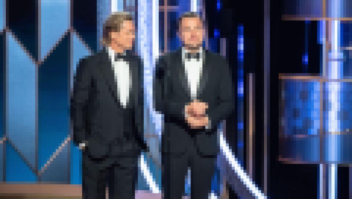 Brad Pitt and Leonardo DiCaprio at the Golden Globes