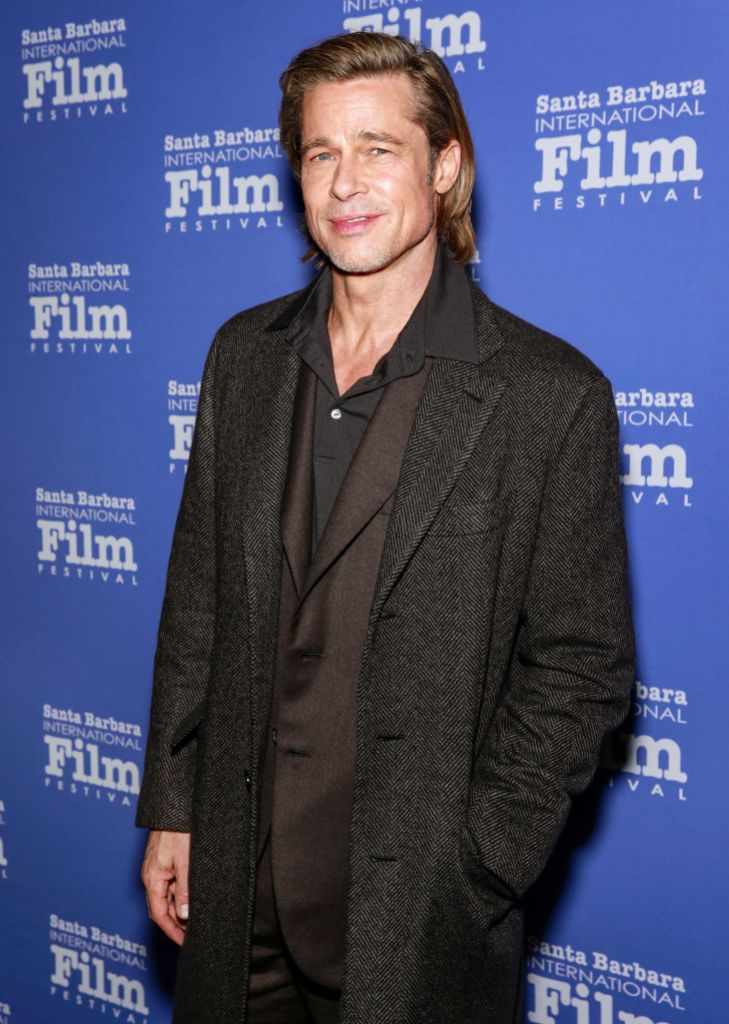 Brad Pitt Wearing a Suit at an Event