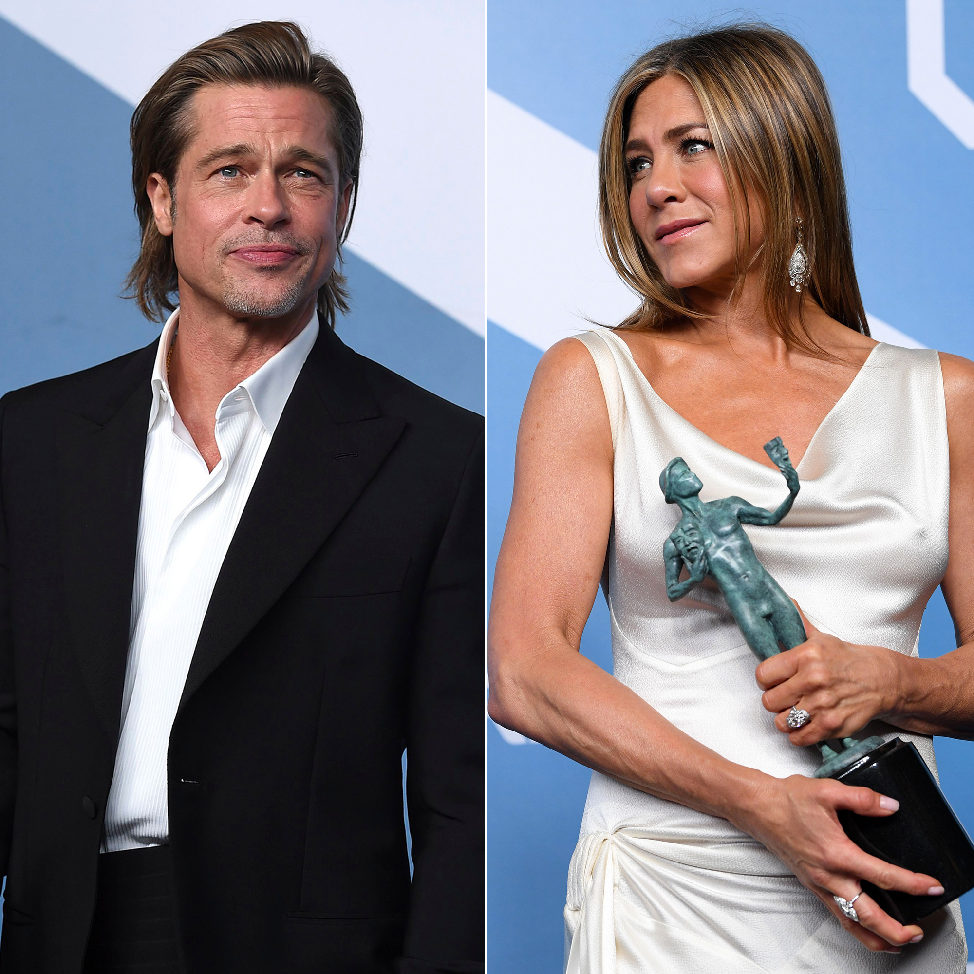 Brad Pitt Laughs When Asked If He Ll Take Jen Aniston To Oscars