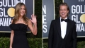 Side-by-Side Photos of Jennifer Aniston and Brad Pitt on Golden Globes Red Carpet