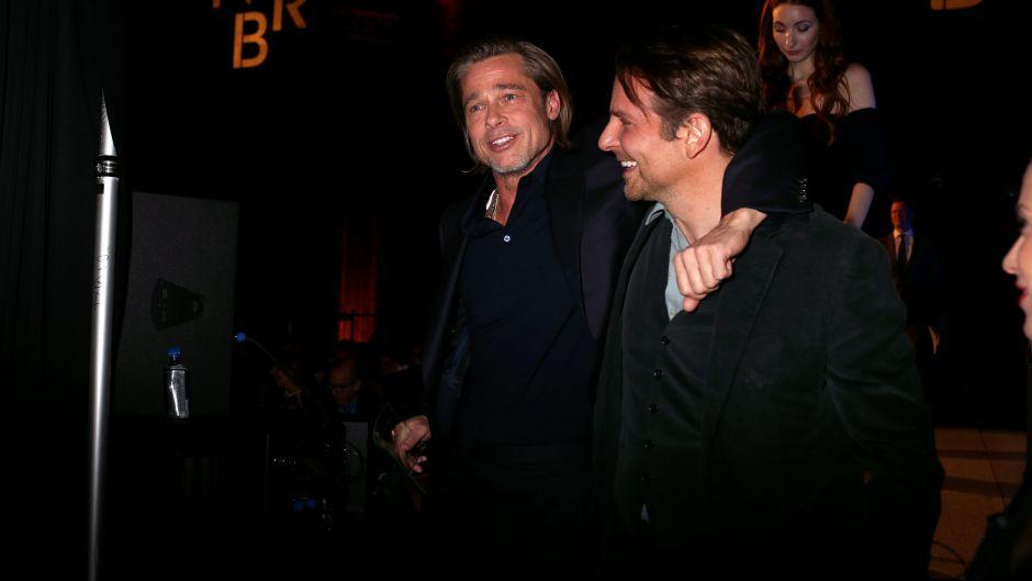 Bradley Cooper and Brad Pitt Hugging at an Awards Show