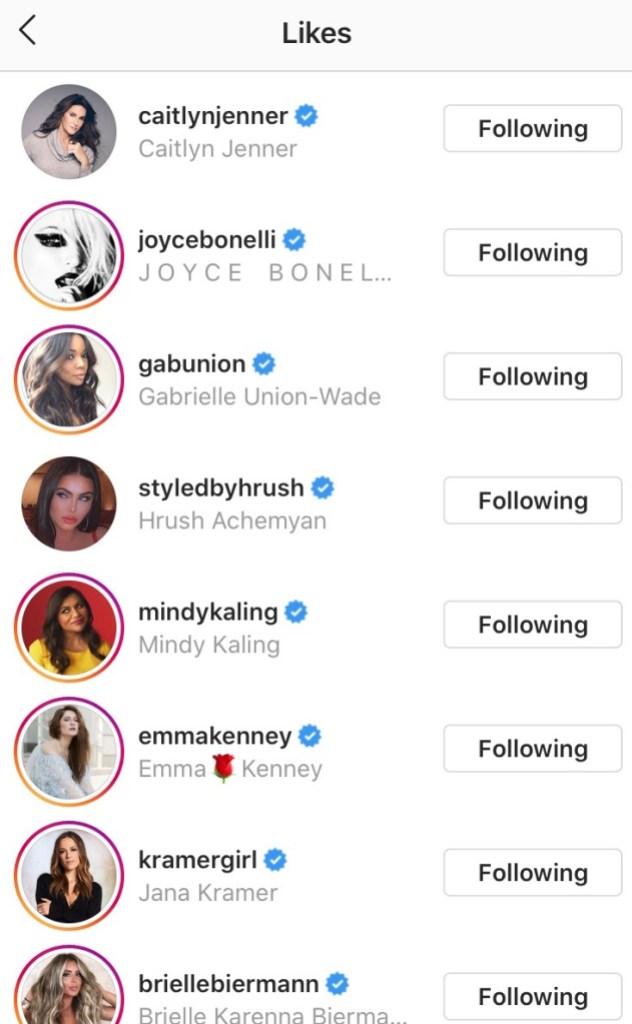 Caitlyn Jenner commenting on Khloe's Instagram