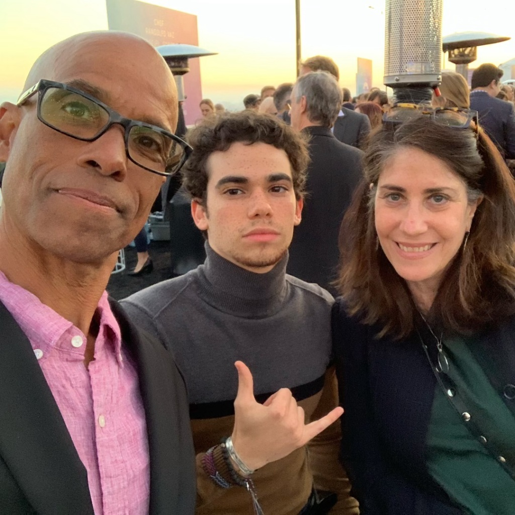 Cameron Boyce With His PArents