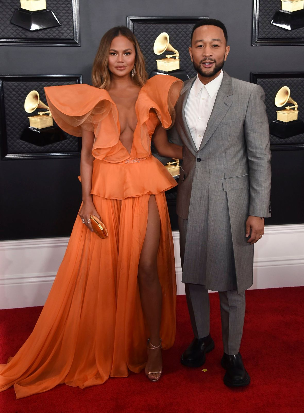 Chrissy Teigen and John Legend on 2020 Grammys Red Carpet
