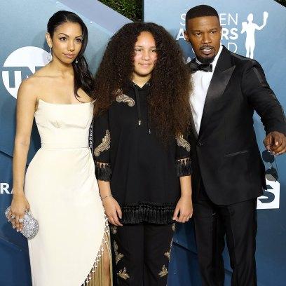 Corinne Foxx, Annalise Bishop and Jamie Foxx Tribute SAG Awards 2020