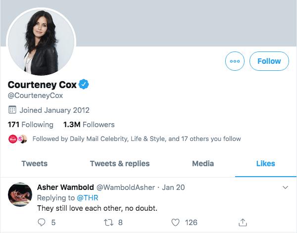 Courteney Cox on Twitter