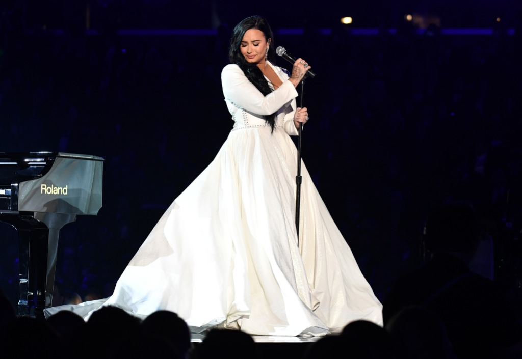 Demi Lovato Wearing White at the Grammys