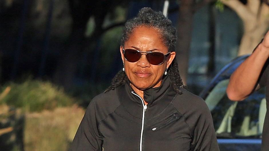 Doria Ragland Wearing All Black While on a walk In California