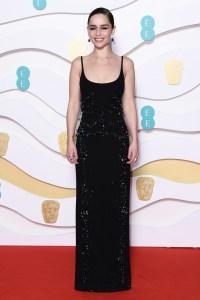 Emilia Clarke 2020 BAFTAs Red Carpet