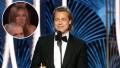In-Set Photo of Jennifer Aniston Watching Brad Pitt Over Photo of Brad Pitt