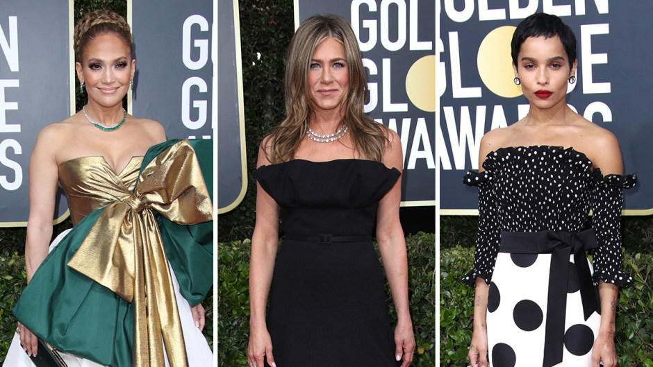 Jennifer Lopez Jennifer Aniston Zoe Kravitz Golden Globes 2020 red carpet