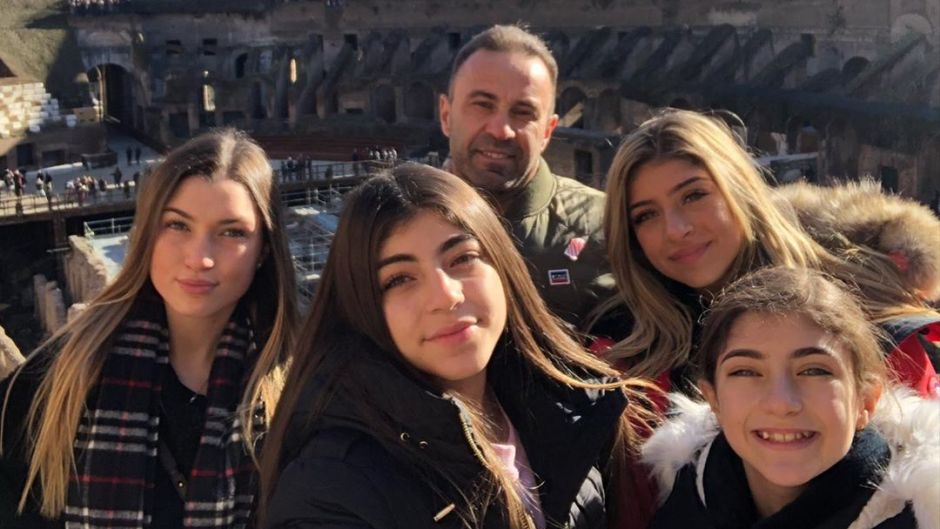 Joe Giudice With His Daughters in Rome