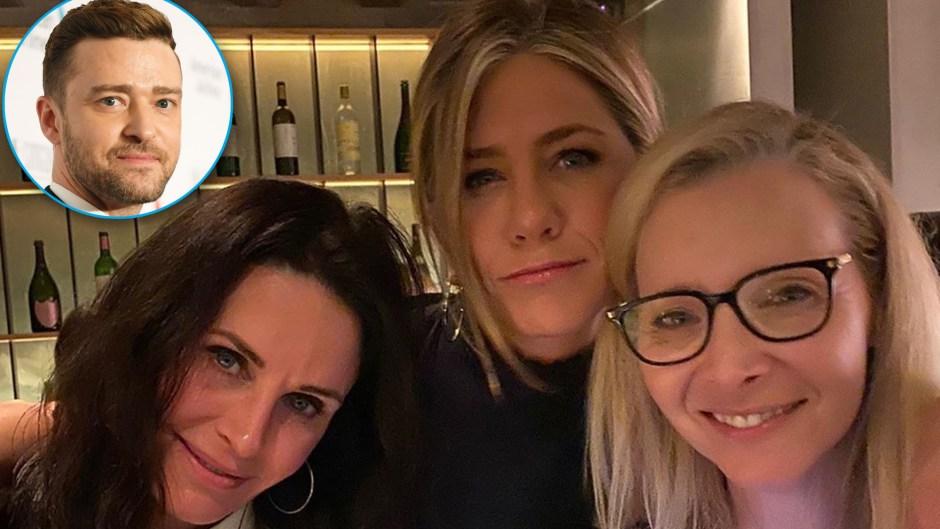 Justin Timberlake 'Likes' a 'Friends' Reunion Photo of Jennifer Aniston, Courteney Cox and Lisa Kudrow
